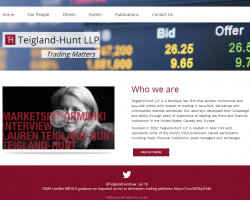 Teigland Hunt Teigland Hunt LLP provides expert legal advice to institutional clients trading in derivatives and commodities markets worldwide.(2)